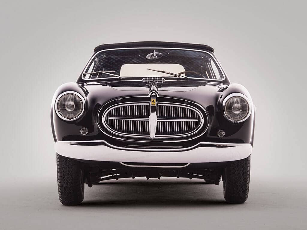Front View, Rare 1952 Ferrari 212 Inter Cabriolet by Vignale