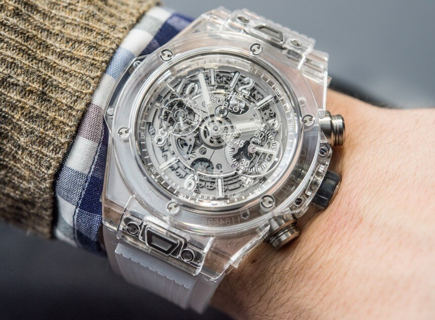 Generously Transparent Big Bang Unico Sapphire by Hublot