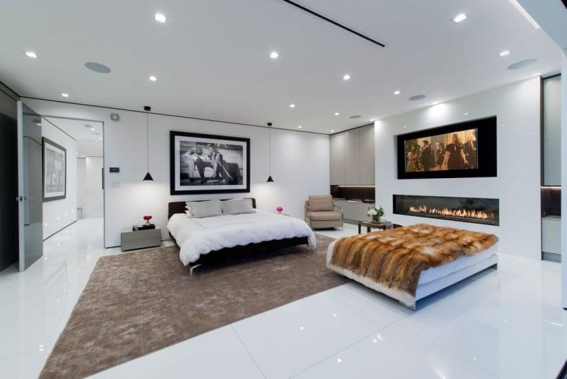 Hollywood Hills Residence, Bedroom Design