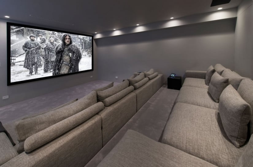 Hollywood Hills Residence, home theater