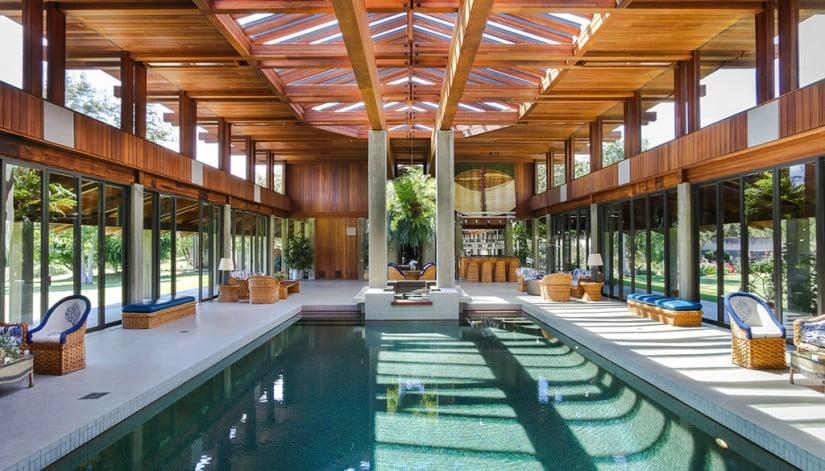 Interior Pool, Del Dios Ranch Estate in California