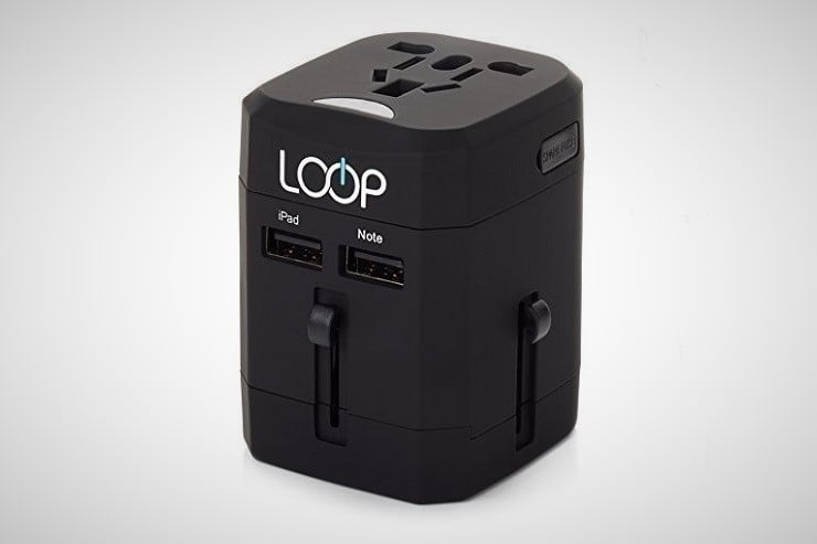 LOOP World Travel Adapter with USB Charging Ports