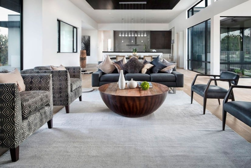 Living Area, Lakeway Residence in Texas