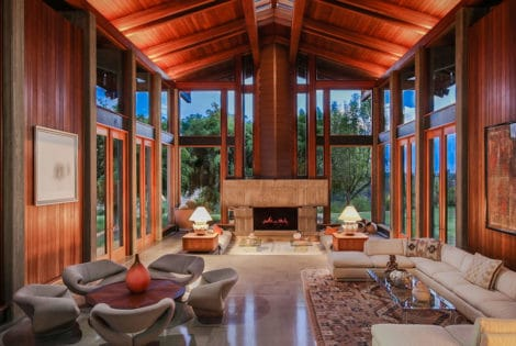 Living Room, Del Dios Ranch Estate in California