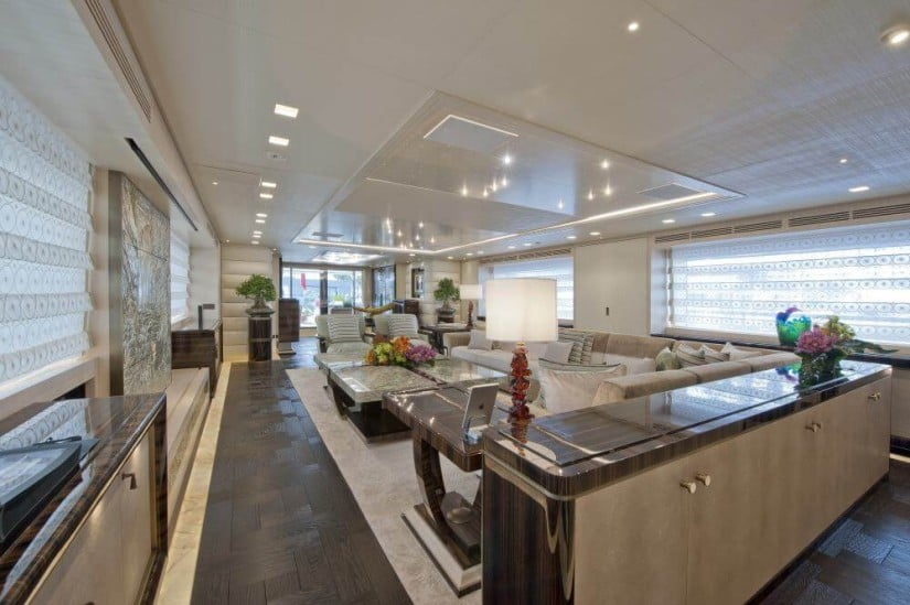 Main Salon, Scorpion Stunning Superyacht by Sanlorenzo
