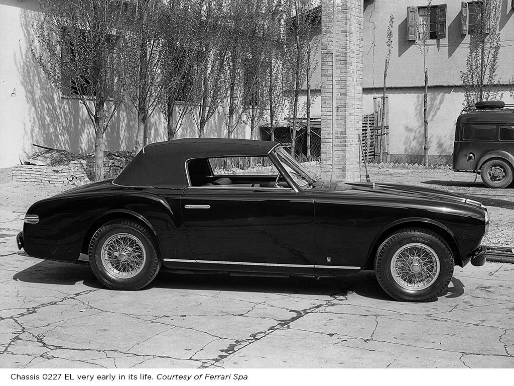 Old Photo 1952 Ferrari 212 Inter Cabriolet by Vignale