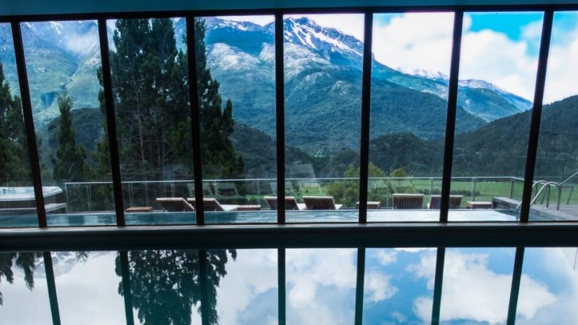 Pool, Uman Lodge in Patagonia