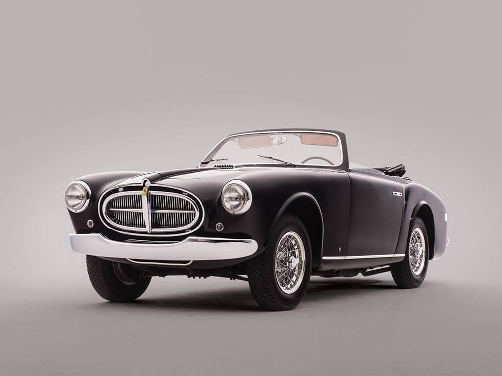Rare 1952 Ferrari 212 Inter Cabriolet by Vignale, Front View