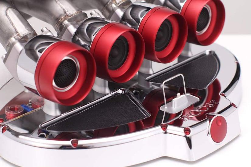 Red iXOOST Otto Exhaust Speaker Dock