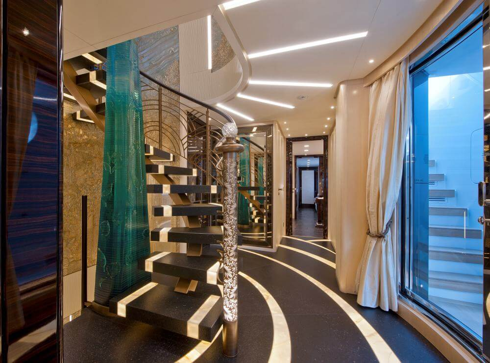 Scorpion Luxury Yacht, Staircase