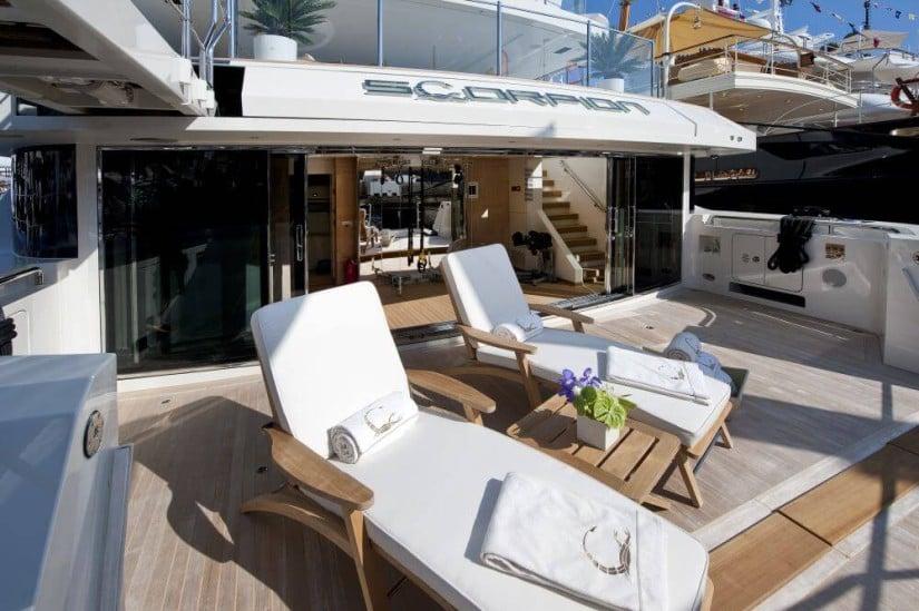 Scorpion Stunning Superyacht by Sanlorenzo, Deck