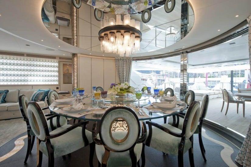 Scorpion Stunning Superyacht by Sanlorenzo, Dining Area
