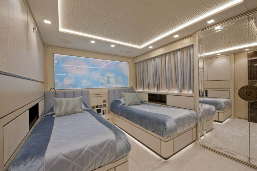 Staterooms, Scorpion Superyacht by Sanlorenzo