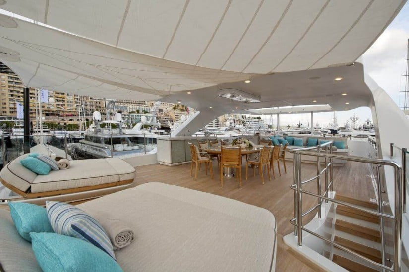 Sun Deck, Scorpion Superyacht by Sanlorenzo