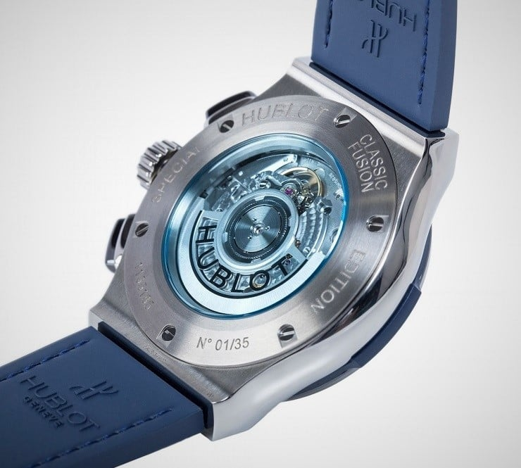 The Watch Gallery X Hublot Special Edition Classic Fusion Chronograph Watch back