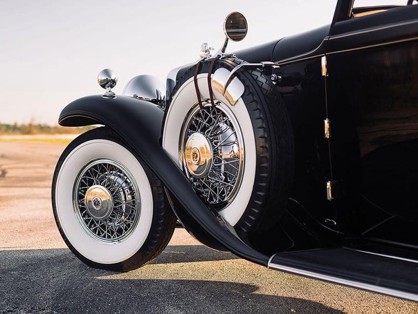 Tyre, 1931 Stutz DV-32 Convertible Victoria by Rollston
