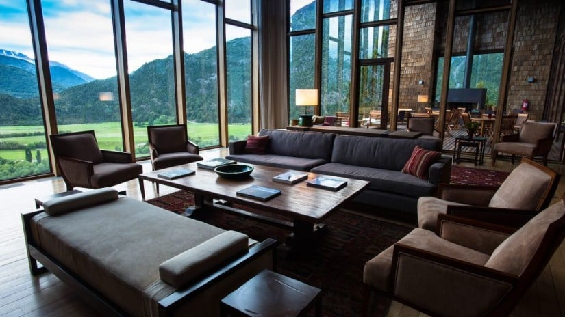 Uman Lodge Luxury Resort in Patagonia, Lounge Area