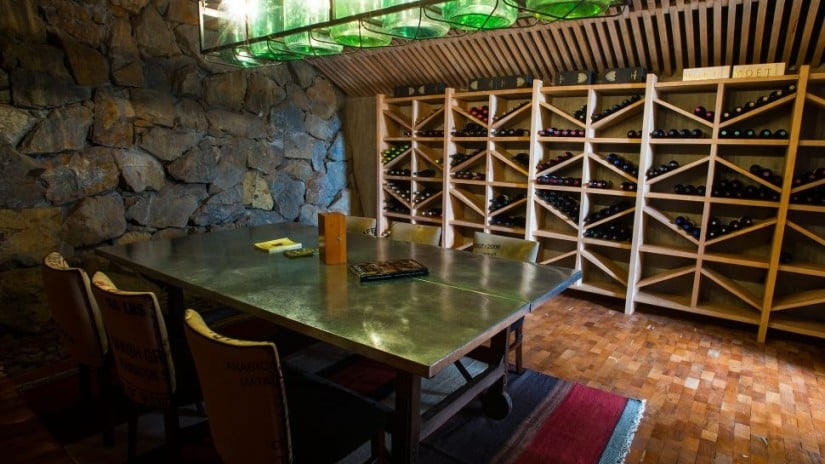 Uman Lodge Luxury Resort in Patagonia, Wine Cellar