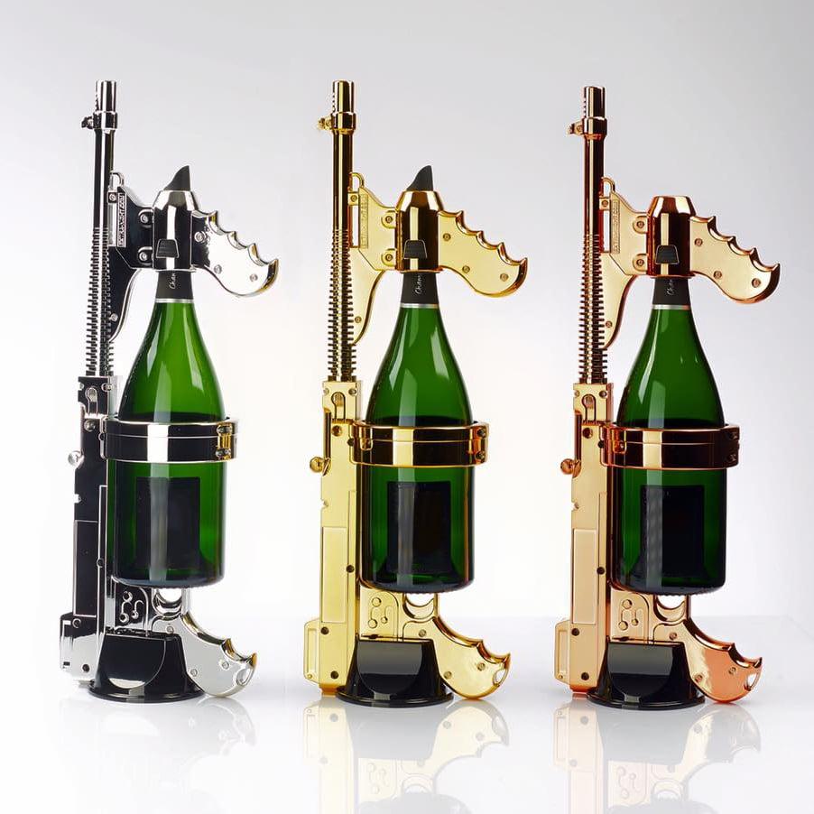 World's First Champagne Gun