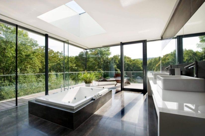 Bathroom, House by Wunschhaus Architektur