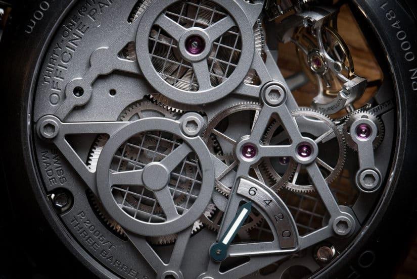 Mechanism, Panerai Luminor 1950 Tourbillon GMT Titanio
