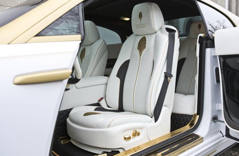 White Interior, Mansory Rolls-Royce Wraith Palm Edition 999