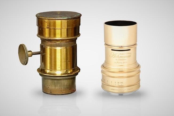 Lomography art lens alongside the original model