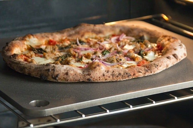 The Slower Heat Transference You Get Through An Unglazed Ceramic Clay Or Tile Baking Stone Makes It Much Easier To Emulate Flame Cooked Pizza Crusts In A