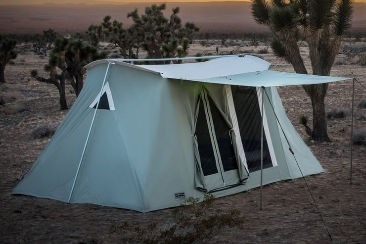 Easy to be set up by a single person these old-school canvas tents are capable of giving you a lifetime of c&ing pleasure. Just add a little care ... & Springbar Highline Canvas Tent | Menu0027s Gear