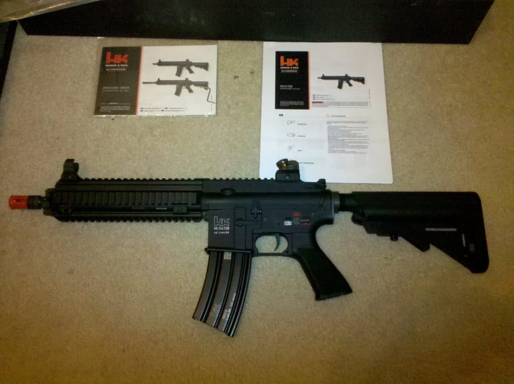 VFC HK416 Softair CQB Package Contents