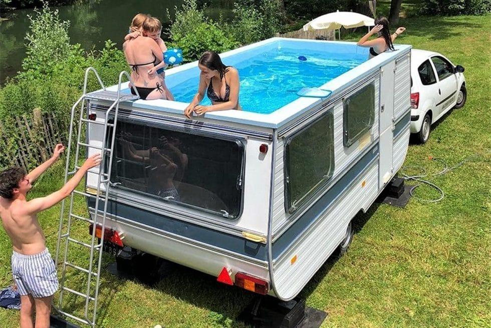 Caravan Mobile Swimming Pool