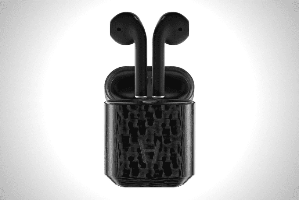 Carbon Black Apple AirPods By Hadoro