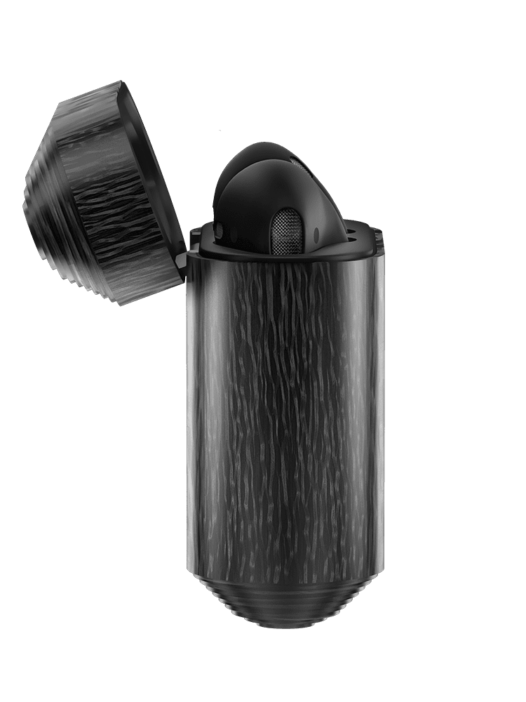 Carbon Black Apple AirPods By Hadoro | Men's Gear