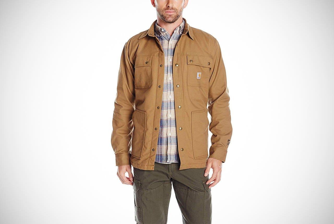 NWT mens CARHARTT Tradesman button front shirt S Field Khaki NEW cotton canvas