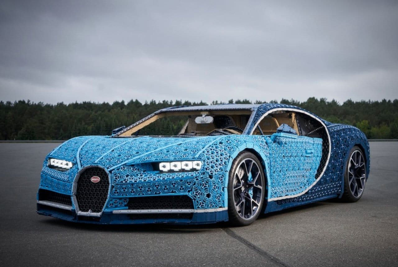 Bugatti Chiron Made Of Legos Men S Gear