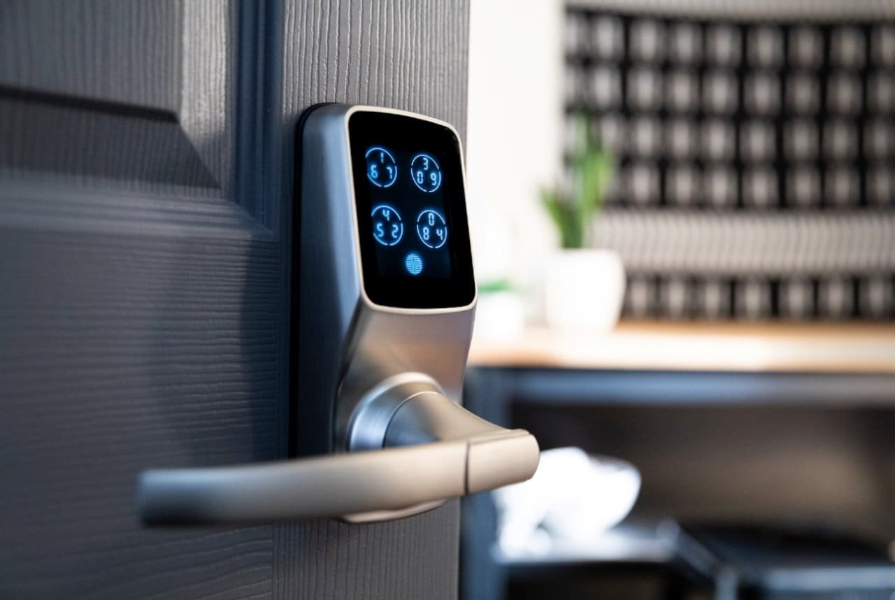 Lockly Door Lock With Fingerprint Scanner