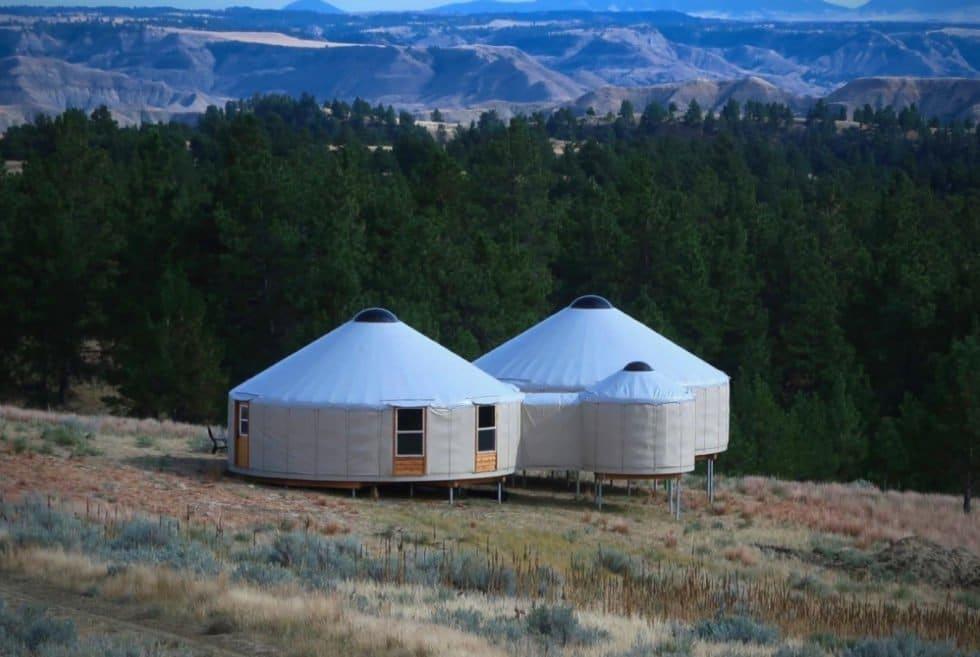 Huts In The American Prairie Reserve