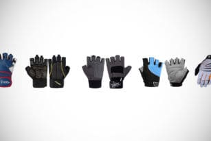 Weightlifting gym gloves