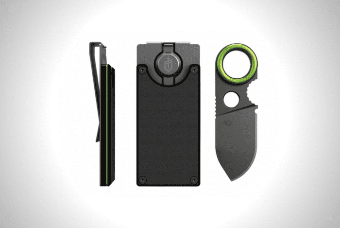 Gerber Money Clip With Built-In Fixed Blade Knife