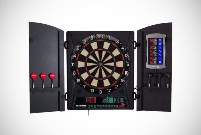 Arachnid Bullshooter Cricket Maxx Electronic Dartboard Cabinet Set