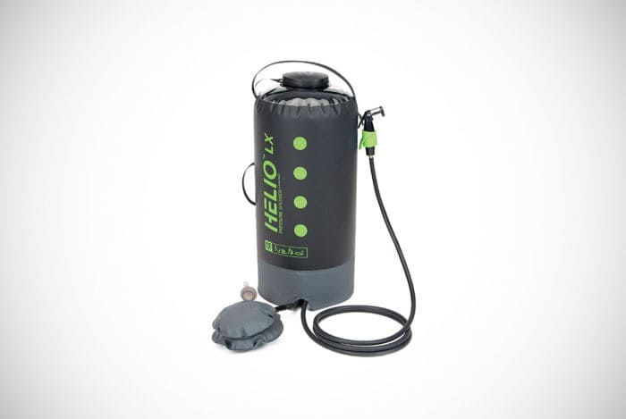 Nemo Helio LX Portable Pressure Shower with Foot Pump