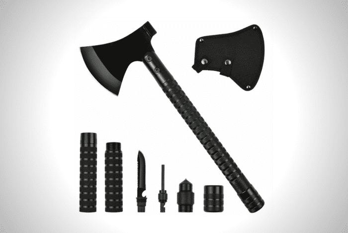 Yeacool Camping Axe Multi-Tool Kit Survival Emergency Gear