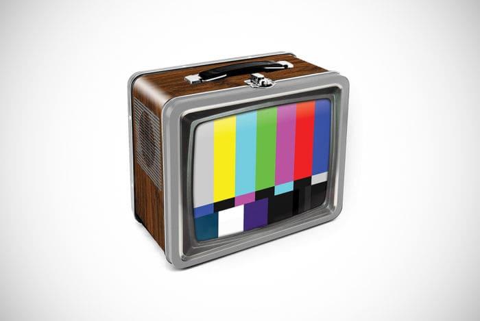 Aquarius Vintage TV Embossed Tin