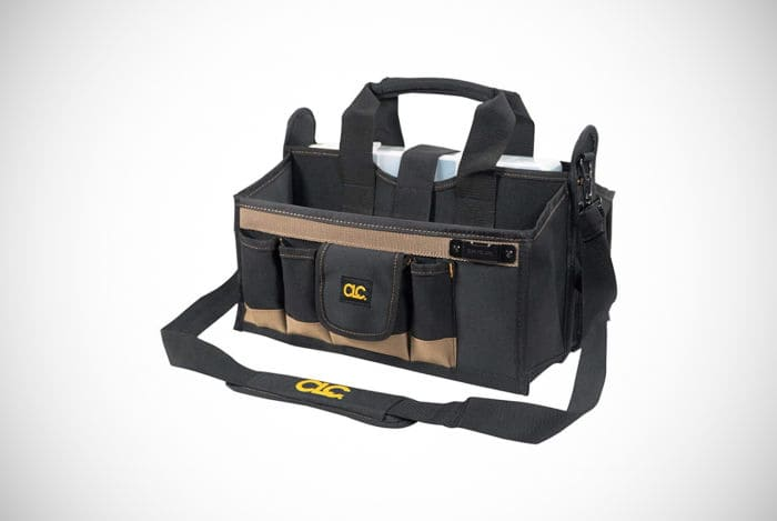 Custom Leathercraft 16-pocket 16-inch Center Tray Tool Bag