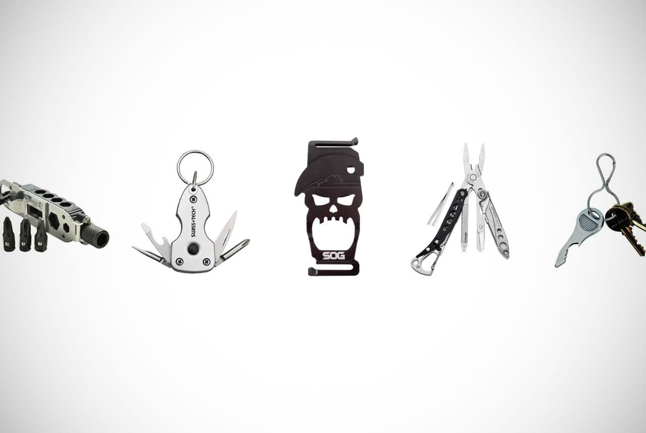 EDC Stainless Steel MultiTool Key Chain Holder Wrench Quickdraw Carabiner BJ