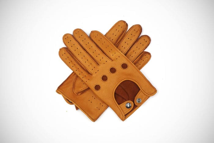 Harssidanzar Leather Driving Gloves