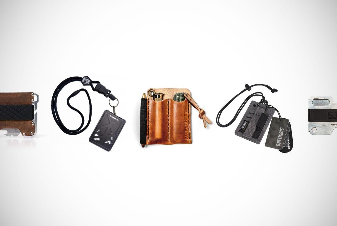 RFID Blocking Minimalist Wallet for Men Armour Supply Co Tactical EDC Wallet Multitool Key Organizer Money Clip