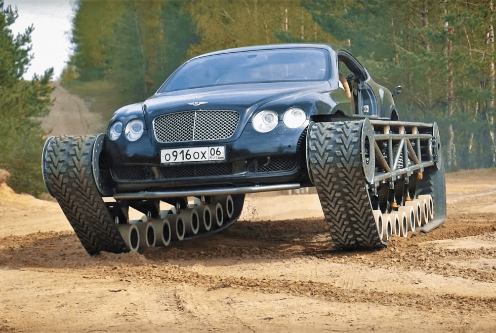 Bentley Continental GT Ultratank Goes Off-Road