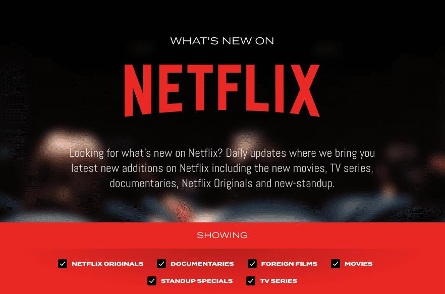 Men's Gear Announces Netflix Gear: Daily List of New