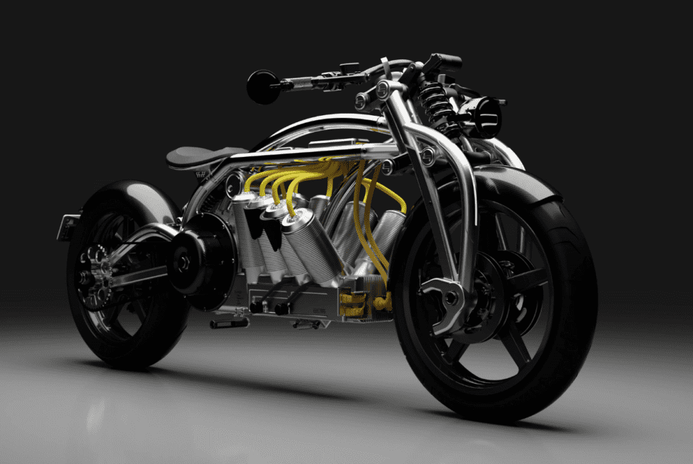 Curtiss Zeus Radial V8 Electric Motorbike